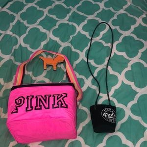 PINK Victoria's Secret Lunchbox and Coozy
